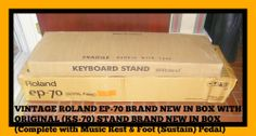 Roland EP-70 Digital Piano BRAND NEW in Box w/Original Stand in Box!!! 76 Keys #Roland
