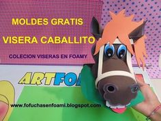 VISERA CABALLITO EN FOAMY CON MOLDES PARA FIESTAS INFANTILES Crafts For Teens, Diy And Crafts, Arts And Crafts, Crazy Hats, Holidays And Events, Make It Yourself, Youtube, How To Make, Google Drive