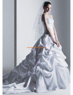 Prinzessin Glamoures Brautkleider 2014 aus Satin mit Stickerei