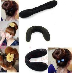 Sponge Bun Clip Maker Former Foam Twist Hair tools L