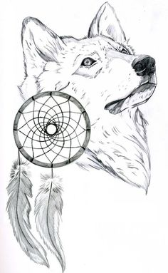 wolf love drawing | We Heart It | drawing, wolf, and white