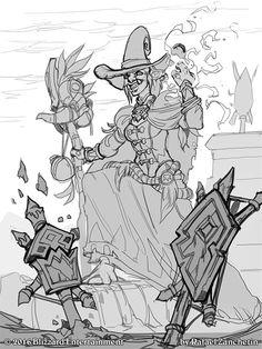 ArtStation - Hearthstone - Wicked Witchdoctor, rafael zanchetin