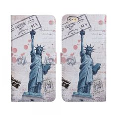statue of liberty eiffel towel flower big ben London Paris New york PU leather wallet phone case For Apple iphone 6 6G 4.7Inch T iPhone Web Shop |