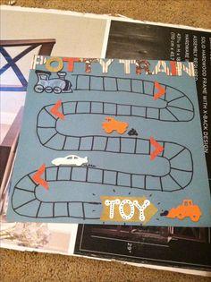 """Potty Train"" sticker chart for boys potty training! #pottytraining #pottychart"