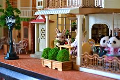 Sylvanian Families DIY, craft, playtime, adventures, woodworks: Tea time at the Courtyard Restaurant Courtyard Restaurant, Sweet Little Things, Sylvanian Families, Tea Time, Pergola, Woodworking, Outdoor Structures, Outdoor Decor, Doll Houses