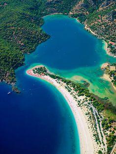 Ölüdeniz Beach, Fethiye, Turkey http://www.vacationrentalpeople.com/vacation-rentals.aspx/World/Europe/Turkey/