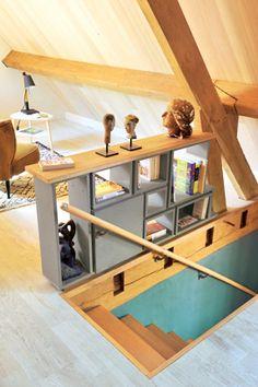 Manzanita Residence by Yamamar Design Attic Loft, Attic Rooms, Attic Renovation, Attic Remodel, Attic Design, Interior Design, Dream Home Design, House Design, Bookcase Stairs