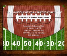 Football Birthday Invitation Any Age Set Of 20 By SweetCartolina 2000 Bbq