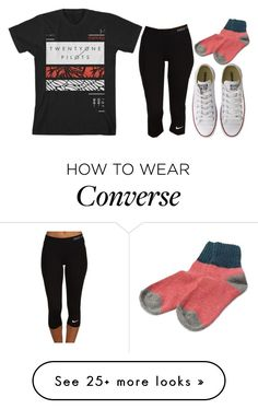 """ootd//v crappy sorry"" by ava-navarrrroo on Polyvore featuring NIKE and Converse"