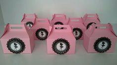 Bailarina - kit Festa Bailarina - caixas para gomas - oferta para convidados - lembrança bailarina - Menina de Papel by Paula Coutinho