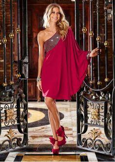 One-Shoulder-Kleid One shoulder dress