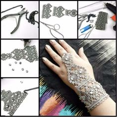 DIY Crafts You Can Make with Lace | Cool DIY Ideas for Fashion, Decor, Gifts, Jewelry and Home Accessories Made With Lace | Handmade Lace Bracelet With Ring | http://diyjoy.com/diy-crafts-ideas-with-lace