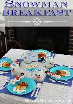 Snowman breakfast - just a picture for inspiration