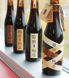 Swing beer packaging --- Unique label design