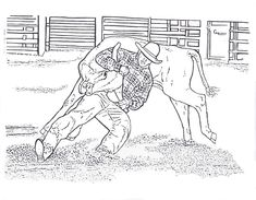 precious moments cowboy coloring pages - photo#27