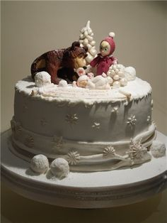 - Masha And The Bear, Bear Cakes, Baby Shower Cakes, Tv, Birthday, Desserts, Christmas, Food, Cakes Baby Showers