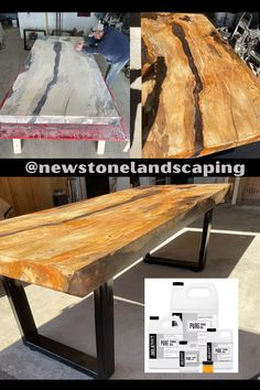 The mother of all kitchen tables! We're in awe of this incredible table by @newstonelandscaping using epoxy from @rustydesigncanada, pigments from @blackdiamondpigments_com, and finished with our Pure Tung Oil. Did you know that you can use Pure Tung Oil on epoxy tables and more?! This hard drying oil absorbs into the wood (not the epoxy) and provides a durable finish. Pure Tung Oil is food contact safe, water-resistant, organic, and is a great finish for spaces where feasting occurs. Pure Tung Oil, Real Milk Paint, Wood Finishing, Wood Oil, Kitchen Tables, Outdoor Furniture, Outdoor Decor, Safe Food, Epoxy