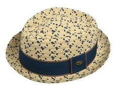 Checkered Summer Straw Porkpie Hat Dress Fedora Stingy Upturned Brim Hat