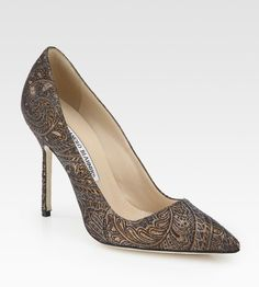 Manolo Blahnik Bb Brocade Pumps