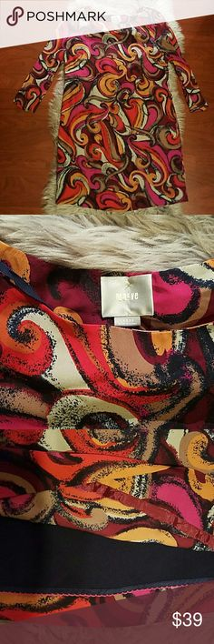 Maeve Anthropologie Flowy Shift Dress Size Large This is an abstract print shift dress from Anthropologie brand Maeve. Multicolored abstract print. 3/4 sleeve. Flowy, draping shift dress fit. Great like new condition. Fully lined. Anthropologie Dresses