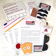 12 Months of Top Secret Mission Spy Kit with Briefcase via Etsy