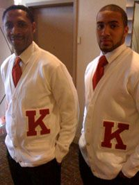 Kappa Alpha Psi Red And White Tennis Shoes