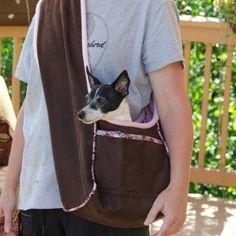 Portador del perro forradas en Toisón de PupPanache - PDF coser Patrón + Capa del perro de bricolaje   PatternPile.com