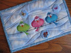 bird quilt patterns |  3 birds on a wire