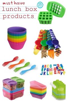 {Must Have} Lunchbox Products from Kids activities blog. I love the re-usable popsicle sleeves for snacks - I've never seen those before!