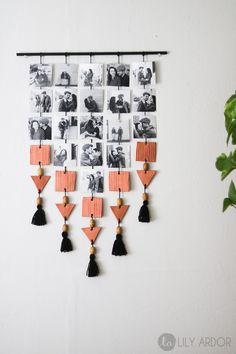 DIY Hanging Picture Display.