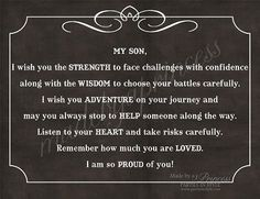 To my sons!