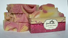 Almond Cherry Blossom Artisan Soap Handmade Soap by SunbreakSoaps