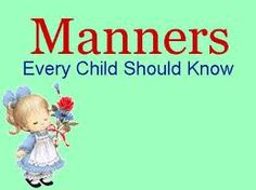We are teaching these to our littles, but some people make it difficult when we correct them.  People say it is not necessary, but we tell them we are trying to instill good manners in our boys.