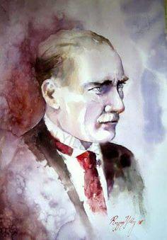 Rezzan Yildiz Turkish Artist-watercolor #ATATURK#