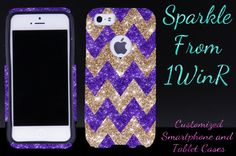 OTTERBOX Case for iPhone 5 iPhone 5s Otterbox Commuter Chevron Glitter Design Purple Gold Case Cute Stylish Sparkly Girl iPhone Otterbox by 1WinR on Etsy