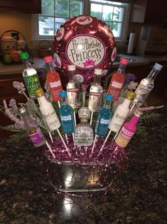 bouquetLiquor bouquet Candy bouquet for Mother's Day! - The Best Travel Workouts You Can Do With No Equipment - Booze Bouquet Liquor birthday baskets Liquor bouquet More Liquor bouquet . Mom Birthday Gift, 21st Birthday Basket, 21st Birthday Presents, 21st Birthday Decorations, Birthday Gift Baskets, 21st Gifts, 21st Birthday Bouquet, 21st Birthday Gifts For Best Friends, Alcohol Gift Baskets