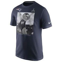 Men's New England Patriots Nike Navy Blue Super Bowl XLIX Champions Celebration Lombardi T-Shirt