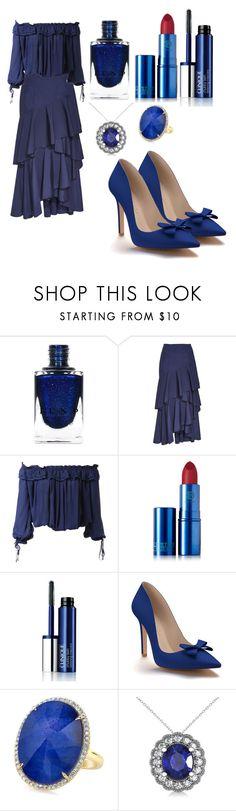 """""""Outfit #1562"""" by ivanna1920 ❤ liked on Polyvore featuring Alice + Olivia, Dsquared2, Lipstick Queen, Clinique, Shoes of Prey and Allurez"""