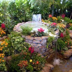 fuentes y estanques de agua que parece un autntico paraso