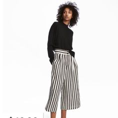 Image result for striped.culottes h&m
