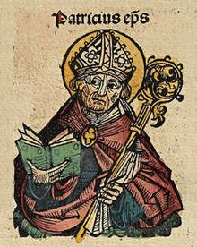Woodcut of St. Patrick, Nuremberg Chronicle an article entitled Saint Patrick the Baptist? Button tries to claim St. Patrick for Evangelical Protestantism… or a… Happy Feast Day, Historical Fiction Authors, Best Of Ireland, Irish Pride, Roman Soldiers, Irish Blessing, Early Christian, Anglo Saxon, Sacred Art