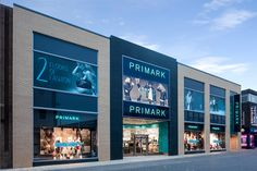 Mall Design, Retail Store Design, Primark Stores, Glass Lift, Mall Facade, Supermarket Design, Exterior Signage, Luxury Store, Glass Facades