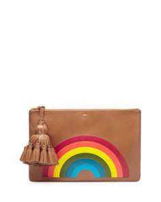 2e6d3a1ec8 Anya Hindmarch Georgiana Rainbow Clutch Bag