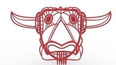 3D Printed 3D Longhorn Head Wall Art, Red Matt Grote http://www.amazon.com/dp/B00RPOO3UW/ref=cm_sw_r_pi_dp_UXMXub1VVKT6M