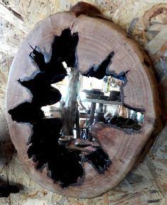 handmade rustic and decorative oakwood wall hanging mirror
