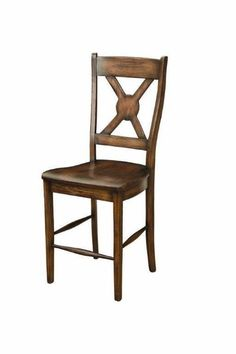 Amish White River Bar Stool Amish made in Ohio in choice of wood, finish and upholstery. #DutchCrafters