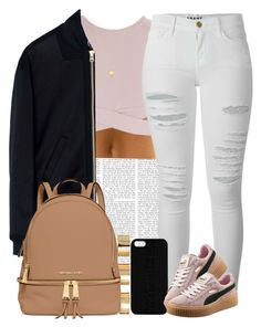 """""""Creepin' """" by livelifefreelyy ❤ liked on Polyvore featuring Asilio, McQ by Alexander McQueen, Frame Denim, Maison Takuya, ASOS, MICHAEL Michael Kors, Puma and Joolz by Martha Calvo"""