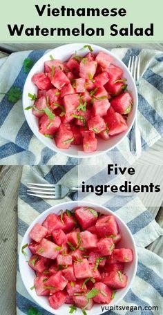 Vietnamese Watermelon Salad - vegan, gluten-free, raw, only 5 ingredients!