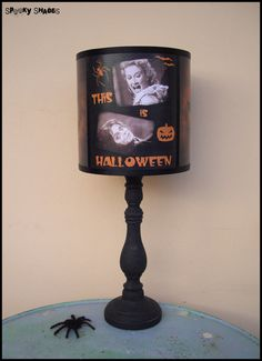 Hey, I found this really awesome Etsy listing at https://www.etsy.com/listing/164426421/evil-pumpkin-lamp-shade-halloween-decor