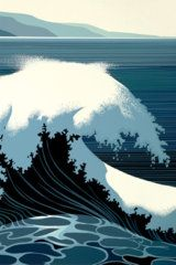 A Sounding of Surf by Eyvind Earle